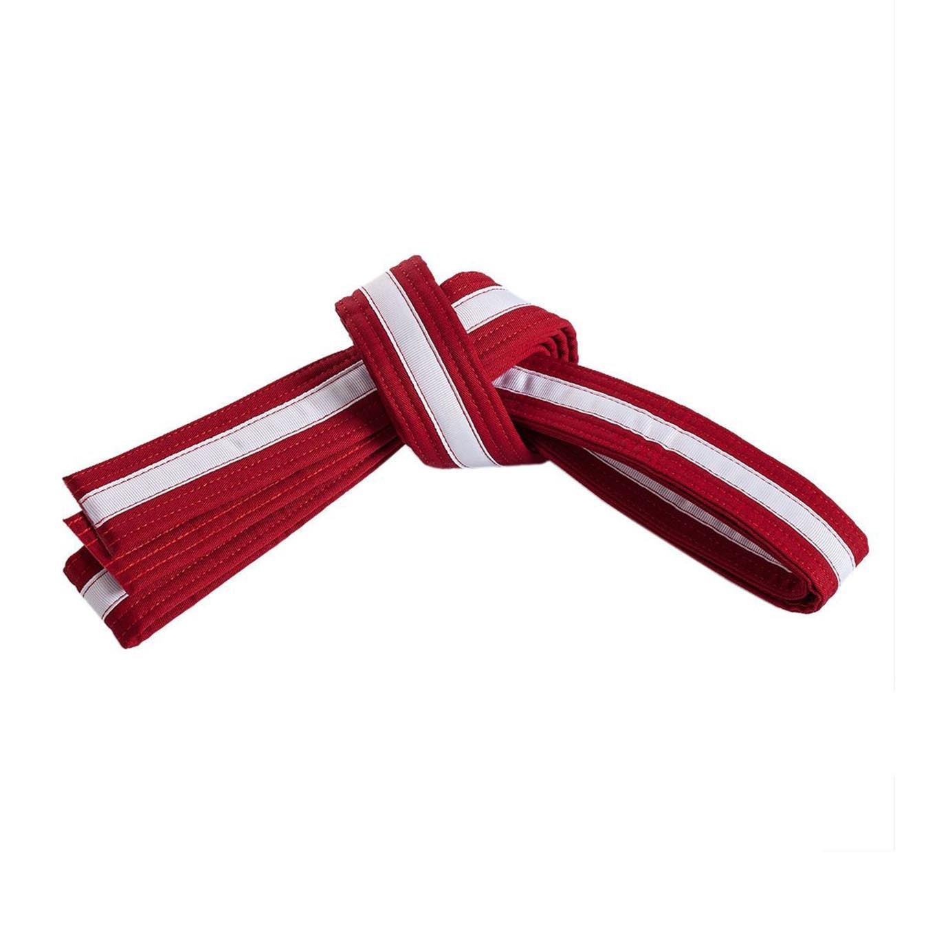 Red Belt with White Stripe