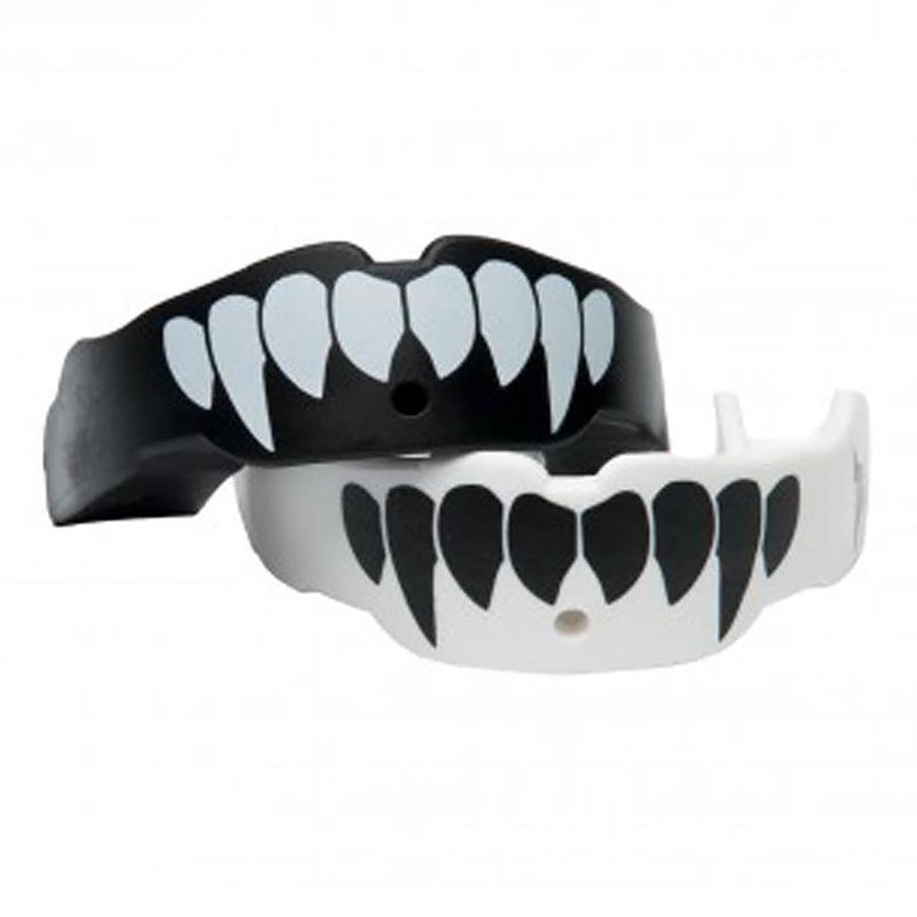 Battle Science Mouthguard Kids Two Pack Fang Black & White