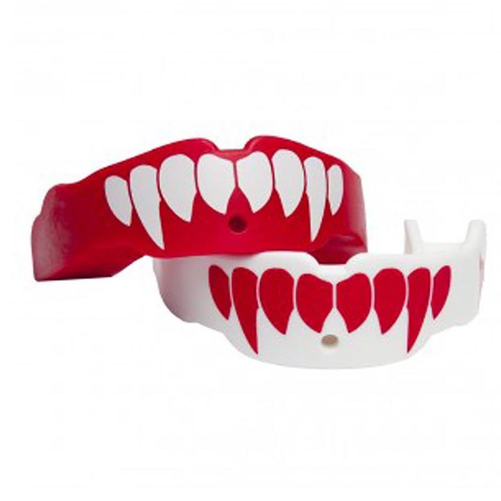 Battle Science Mouthguard Kids Two Pack Fang Red & White