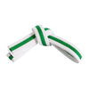 White Belt with Green Stripe
