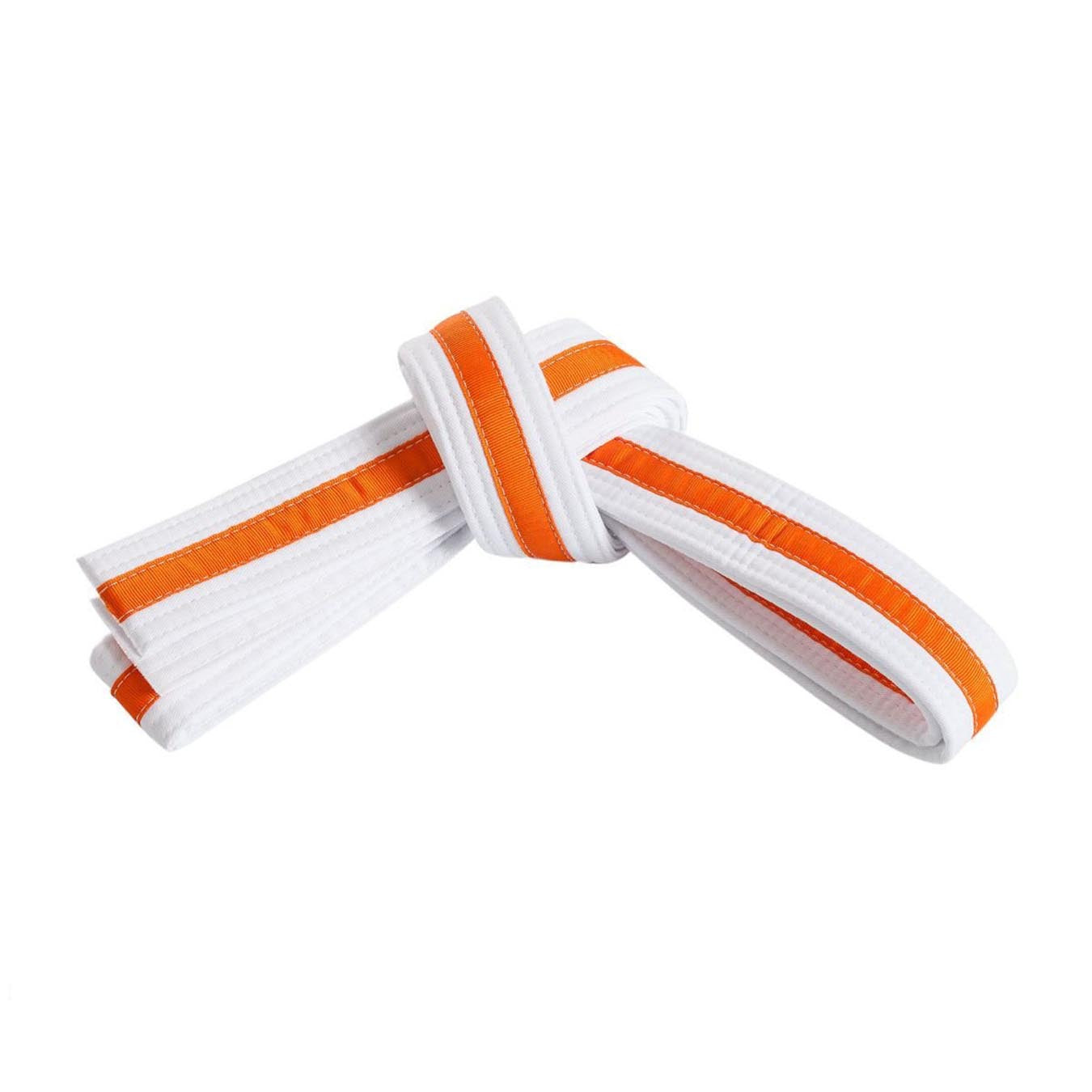 White Belt with Orange Stripe