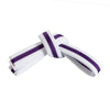 White Belt with Purple Stripe