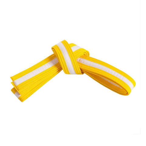 Yellow Belt with White Stripe