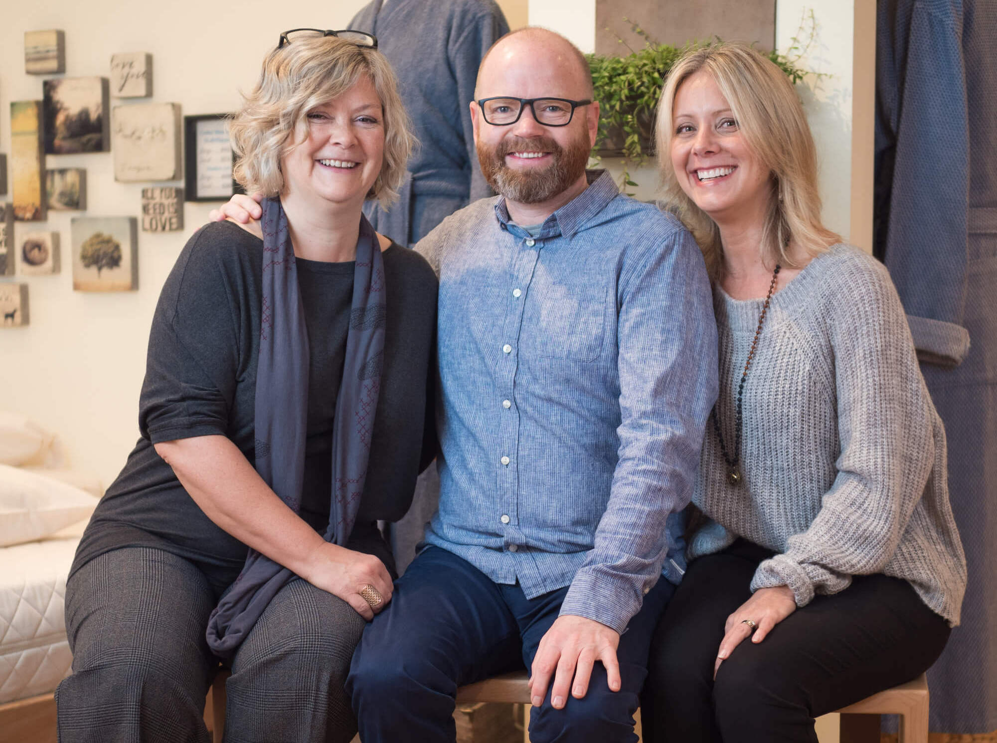 Resthouse Sleep Solutions Ownership Team, Dawn Howlett, Chris Manley and Olga Roberts