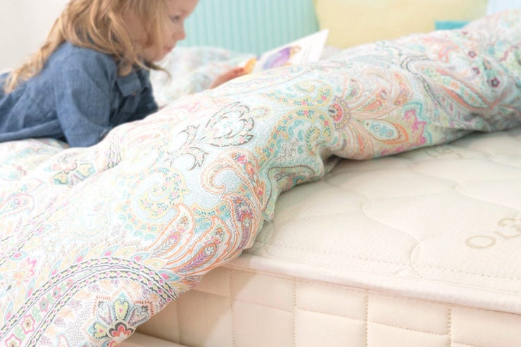 2 sided mattress - waterproof on one side for young children, quilted on the other side for older children and teens