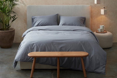 300 Thread Count Organic Cotton Percale Duvet Cover