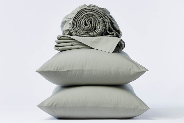 Bedding shams made from Fair Trade Certified™ organic cotton percale