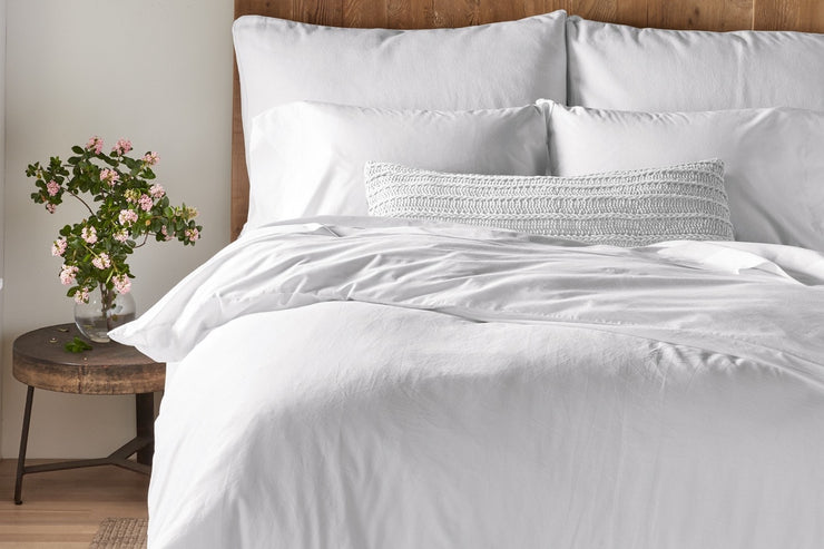 300 Thread Count Organic Cotton Sateen Duvet Cover
