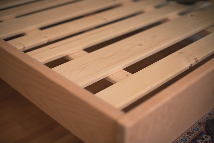 The Sonhos Solid Wood Platform Bed made with Sustainably Harvested Western Maple