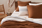 Organic pillow shams crafted in Portugal from exceptionally fine organic cotton yarns