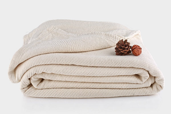 Organic Cotton Chenille Herringbone Blanket by Naturesoft