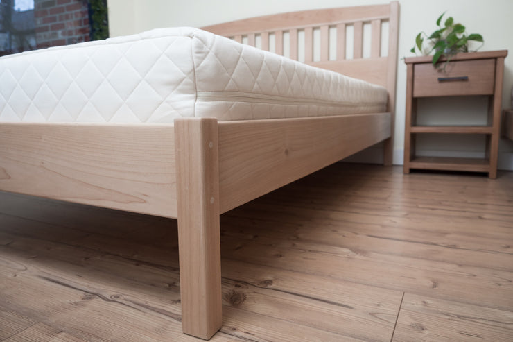 Handcrafted solid Western Maple platform beds