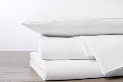 Cloud Brushed Organic Cotton Flannel Fitted Sheet by Coyuchi