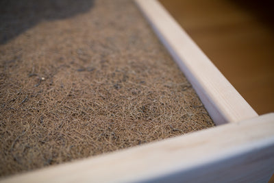 Organic Coconut Coir Bed Rug - Naturally breathable and promotes ventilation under your mattress