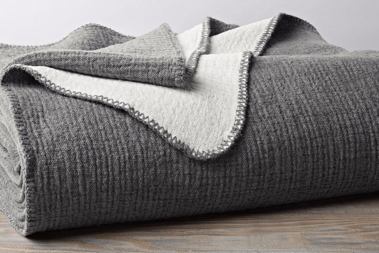 Combining the plush touch of chenille and the lightweight warmth of cotton, this baby blanket is snuggly and comforting in every season.