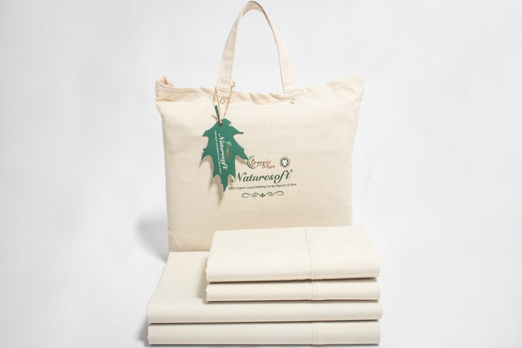 Organic Cotton Percale Sheets by Naturesoft - Crisp and Cool Sheet Sets