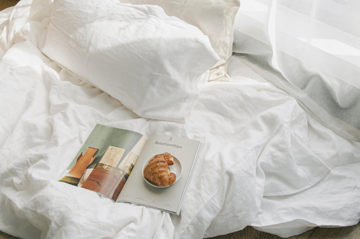 Organic Linen Duvet Cover by If Only Home