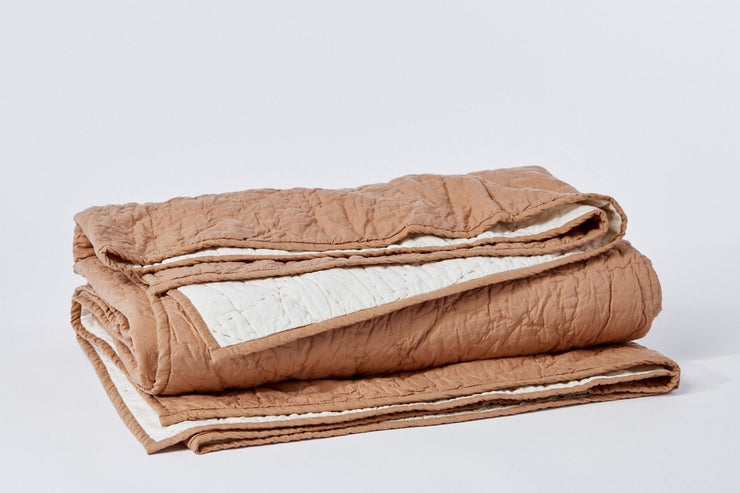 Manzanita Organic Handstitched Quilt is made with 100% organic cotton is grown and woven in India.