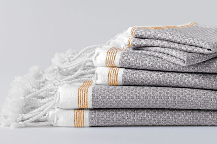 Organic bath towel sets - available at Resthouse, Vancouver Island, Canada