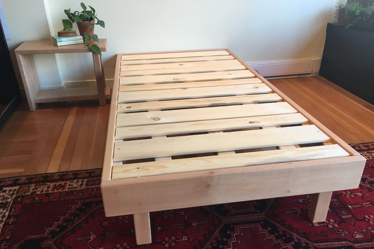 "Western Maple Platform Bed Frame ""Nuve"" - Vancouver Island Hand Crafted Bed Frame"