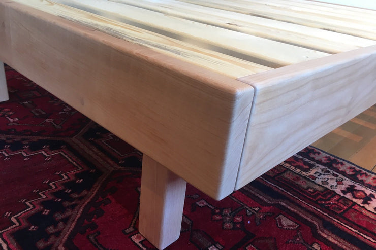 Hand crafted Western Maple bed frame