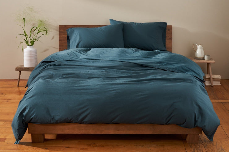 Organic percale duvet cover - soft, breathable, comfortable