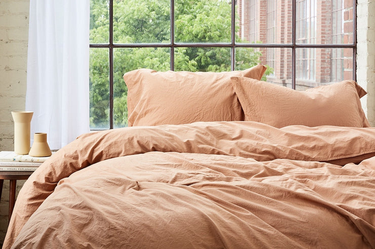 Soft and comfortable percale duvet cover by Coyuchi