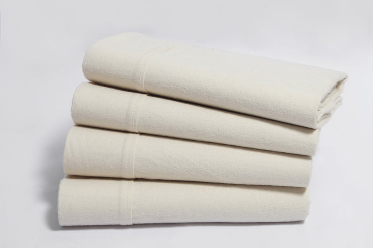 Organic Cotton Flannel Flat Sheets by Naturesoft
