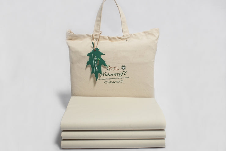 Naturesoft Organic Cotton Percale Fitted Sheets