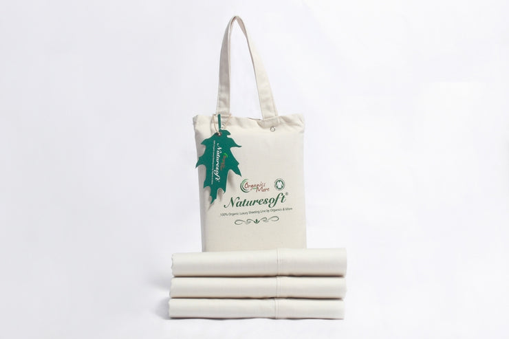 Pillowcases made with 100% GOTS certified organic cotton