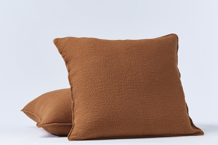 Pillow sham made with 100% organic cotton is sourced in India and woven in Portugal