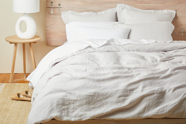GOTS certified organic linen duvet covers available at Resthouse Sleep Solutions
