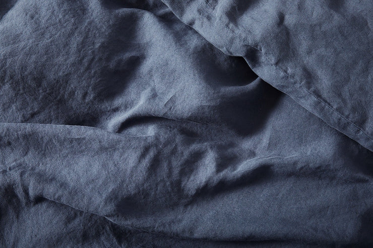 Relaxed linen duvet covers made from 100% flax grown in France.