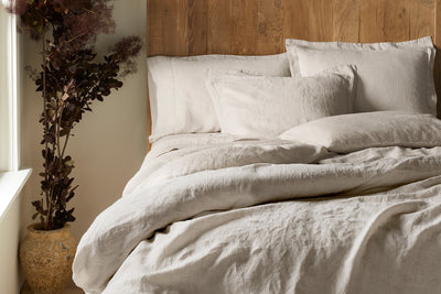 Organic Relaxed Linen Duvet Cover by Coyuchi - Linen Duvet Covers