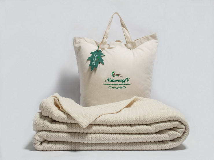 Organic Herringbone Throw Blankets available at Resthouse Sleep Solutions - British Columbia, Canada