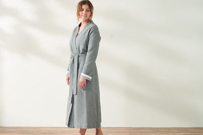 Organic Cotton Robes by Coyuchi - Organic bathrobes available at Resthouse, Vancouver Island, Canada