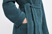 Organic Bath Robes for Men and Women - Unisex Organic Cotton Waffle Robes