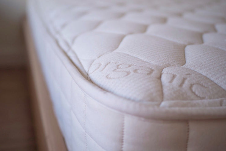 The Verse - organic cotton, PLA and steel high grade coil mattress available at Resthouse Sleep Solutions