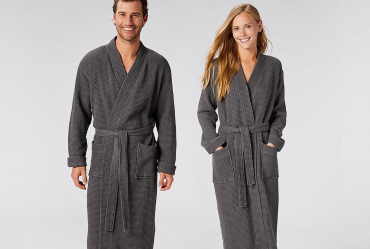 Unisex Organic Cotton Waffle Robe by Coyuchi - Available at Resthouse