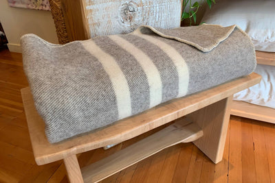 MacAusland's Woollen Mills wool blankets - available at Resthouse
