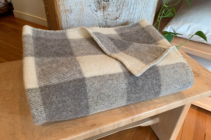 100% wool throws - made in Canada