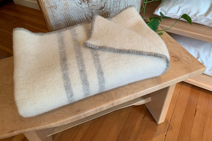 The perfect gift for a friend, a loved one, or yourself, the wool throw from MacAusland's Woollen Mills is luxurious, authentic, and made to last.