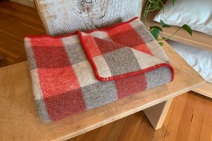 Crafted in Prince Edward Island, these throws are made from 100% virgin wool produced by local sheep