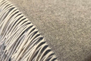 Organic Wool Herringbone Throw