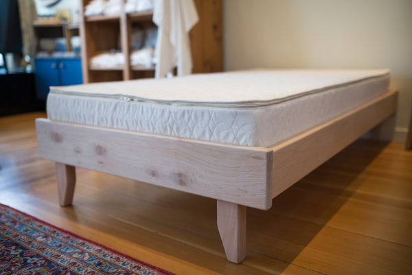 Western Maple Platform Bed - The Xisto - handcrafted on Vancouver Island by Alternative Woodworks - Available at Resthouse Sleep Solutions.
