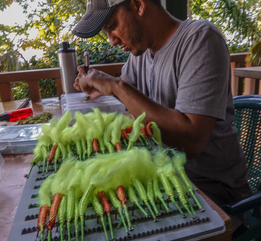 Patrick Tying Flies at the old Guide Flies HQ
