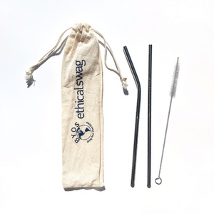 Reusable Stainless Steel Straw 3-piece Set