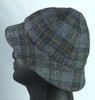 English campaign hat 6 panels with medium brim topstitched