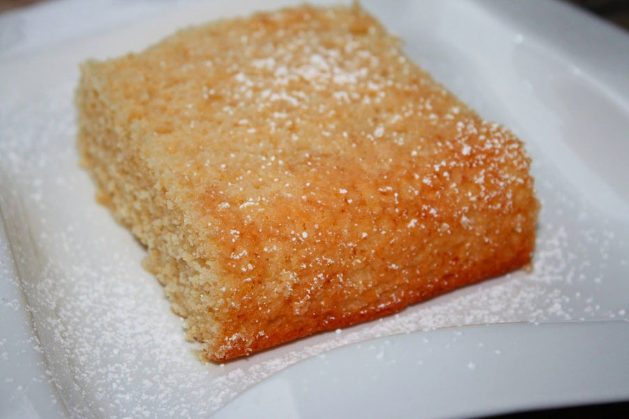 LEMON  OLIVE OIL & POLENTA (STONE GROUND CORNMEAL) CAKE