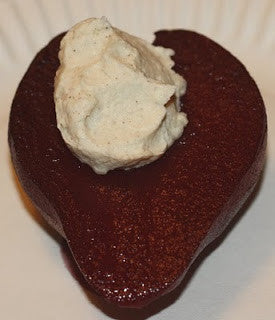 Poached Pear with Mascapone